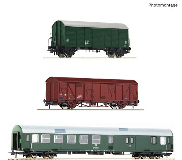 Roco 74053 - 3 piece set: Track maintenance train