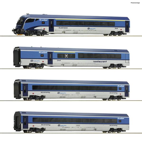 "Roco 74066 - 4 piece passenger set: ""Railjet"""