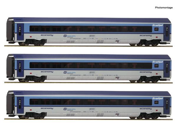 "Roco 74069 - 3 piece passenger set: ""Railjet"""