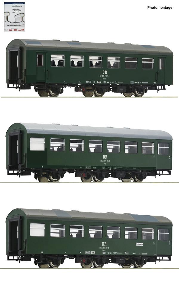 "Roco 74070 - 3 piece set 1: Passenger coaches ""Rekowagen"""