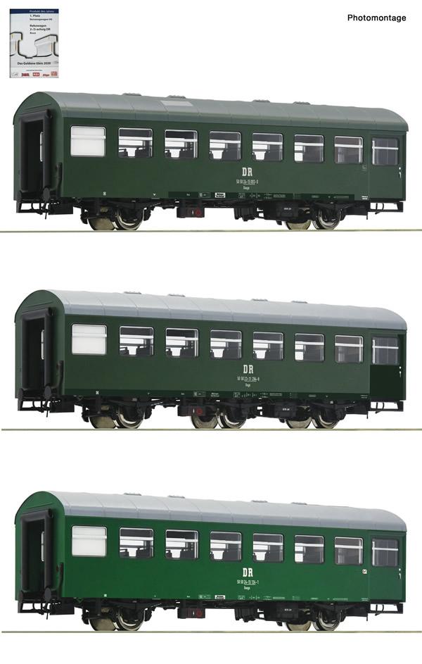 "Roco 74071 - 3 piece set 1: Passenger coaches ""Rekowagen"""