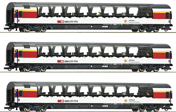 Roco 74081 - 3 piece set Gotthard-Panorama Express