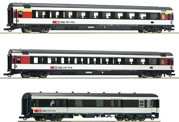 Roco 74082 - 3 piece set Gotthard-Panorama Express