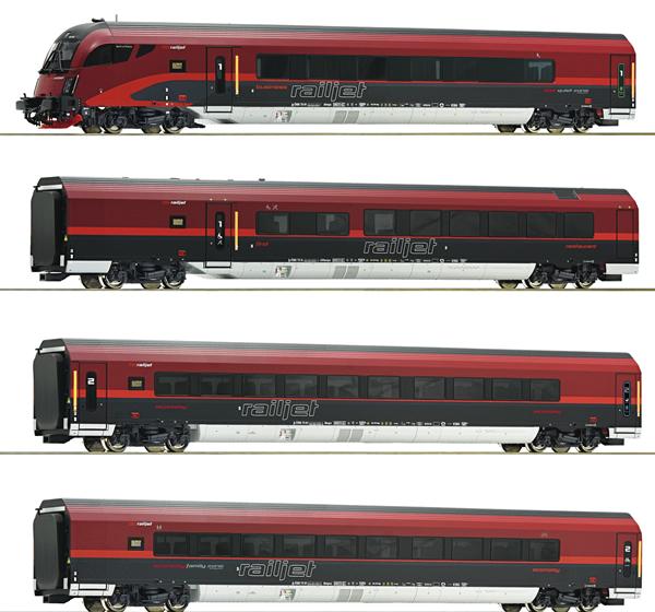 Roco 74085 - 4 piece set Railjet, ÖBB