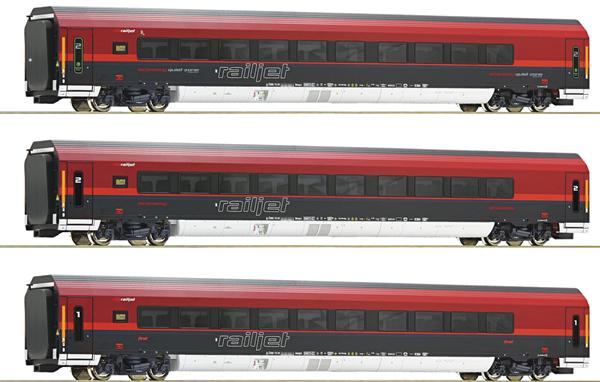 Roco 74086 - 3 piece set Railjet, ÖBB