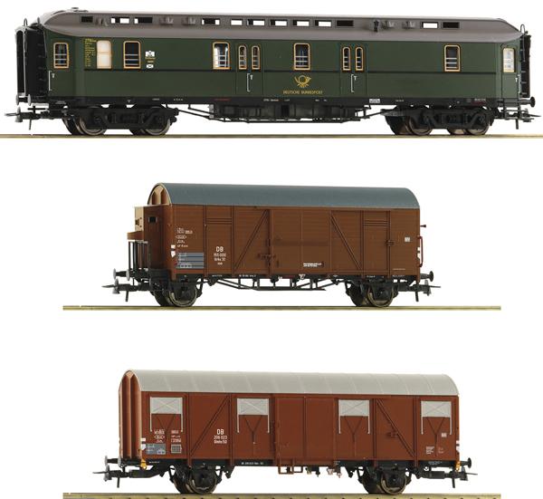 Roco 74091 - 3 piece Mail Train Set