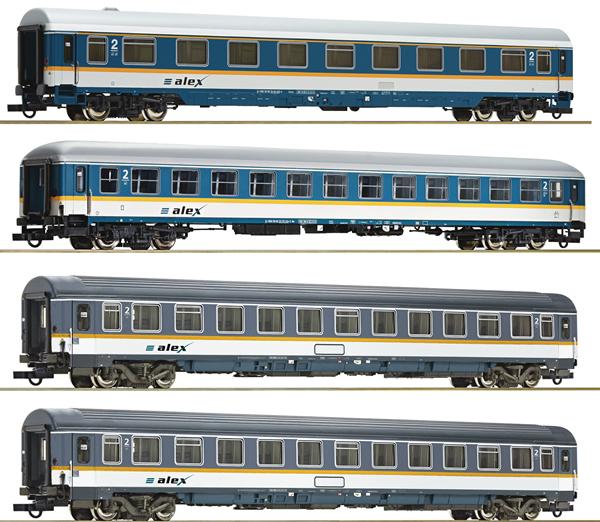Roco 74092 - 4 piece Passenger Carriage Set, alex