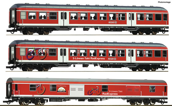 "Roco 74099 - German ""Fahrrad Express"" Set of the DB-AG"