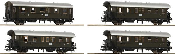 Roco 74102 - 4 piece Passenger Coach Set