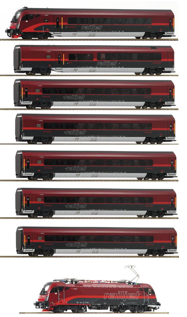 Roco 74115 - Austrian 8pc Railjet Set of the ÖBB (DCC Sound)
