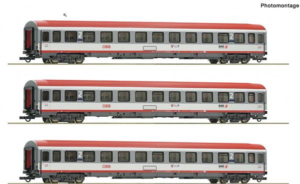 Roco 74132 - 3 piece set: Fast train carriage Innsbruck-Bozen, ÖBB