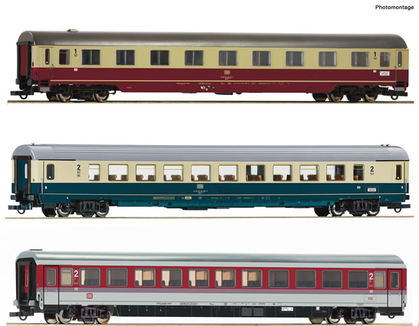 "Roco 74133 - German Passenger Car Set 1: EC ""Leonardo da Vinci"" of the DB"