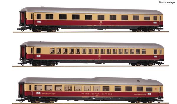 "Roco 74135 - German Passenger cars Set 2 ""Rheingold"" of the DB"