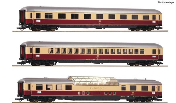 "Roco 74136 - German Passenger cars Set 1 ""Rheingold"" of the DB"