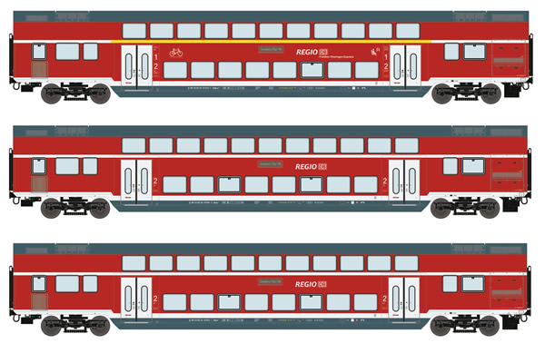 Roco 74137 - German Double deck car Set of the DB-AG