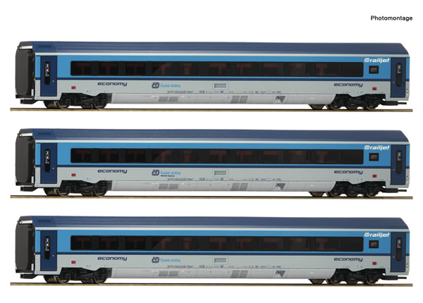 "Roco 74139 - Czech ""Railjet""  Set of the CD"