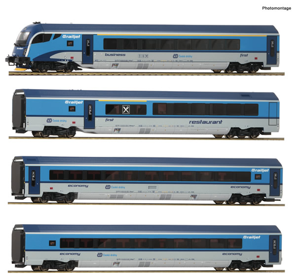 "Roco 74143 - Czech ""Railjet""  Set of the CD"