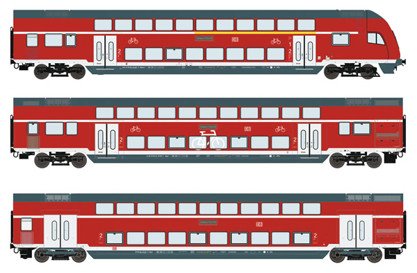 Roco 74150 - German Double Decker Set of the DB AG