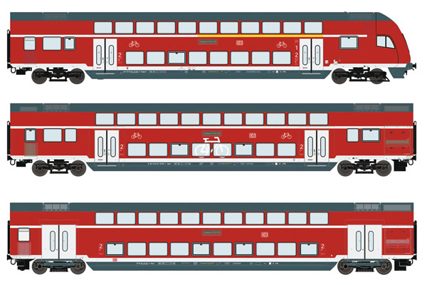 Roco 74151 - German Double Decker Set of the DB AG