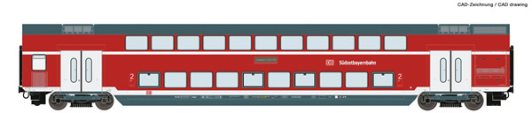 Roco 74157 - Double-deck coach