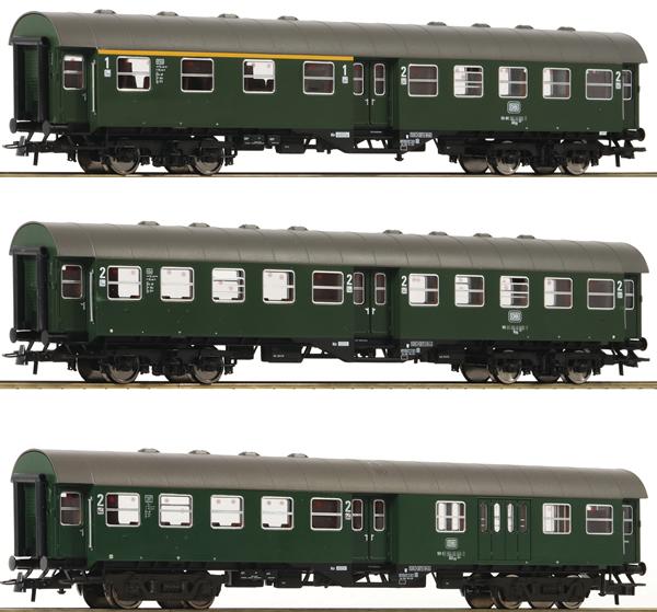 Roco 74184 - 3 piece Conversion Coach Set
