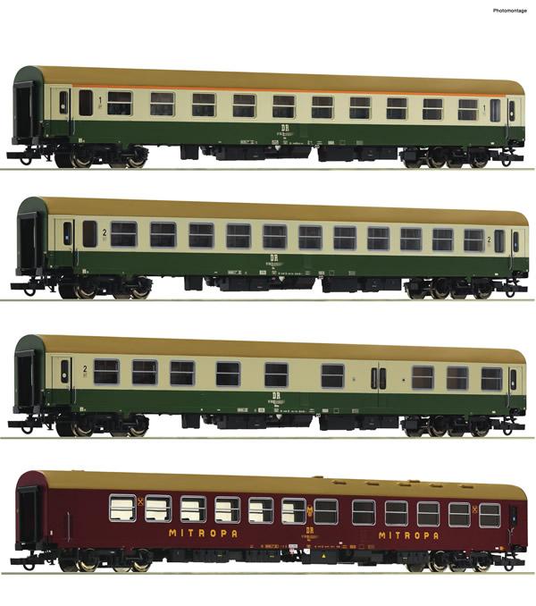 "Roco 74189 - 4 piece set 2: Passenger coaches D 375 ""Vindobona"""