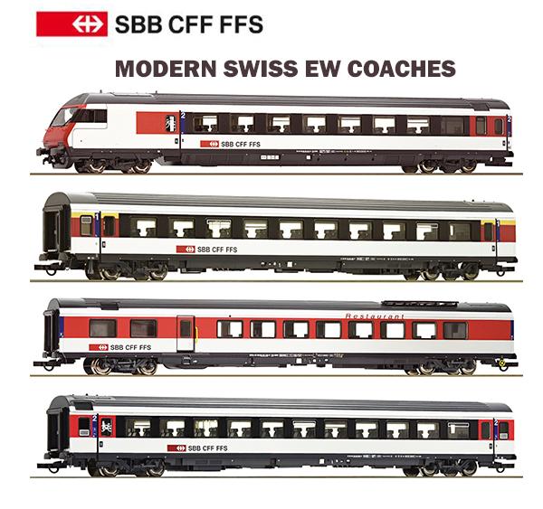 Roco 74395-1 - Modern Swiss EW Coach Set