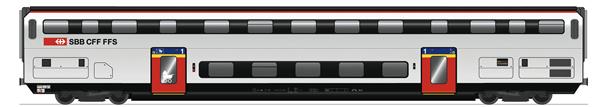 Roco 74493 - 1st Class Double Decker Coach