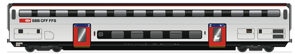 Roco 74495 - 2nd Class Double Decker Coach