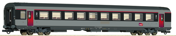 Roco 74544 - 2nd Class Open Seating Car Corail