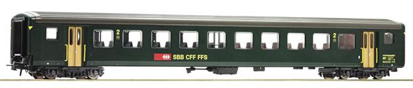 Roco 74571 - Swiss 2nd class fast train car EW II of the SBB
