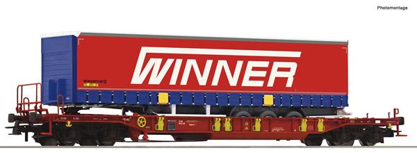 Roco 75890 - Pocket wagon T3 + Winner Trailer #4 Display 75886