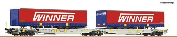 Roco 75891 - Doppeltaschen-Gelenkwagen T2000 + Winner Traier #5 Display 75886