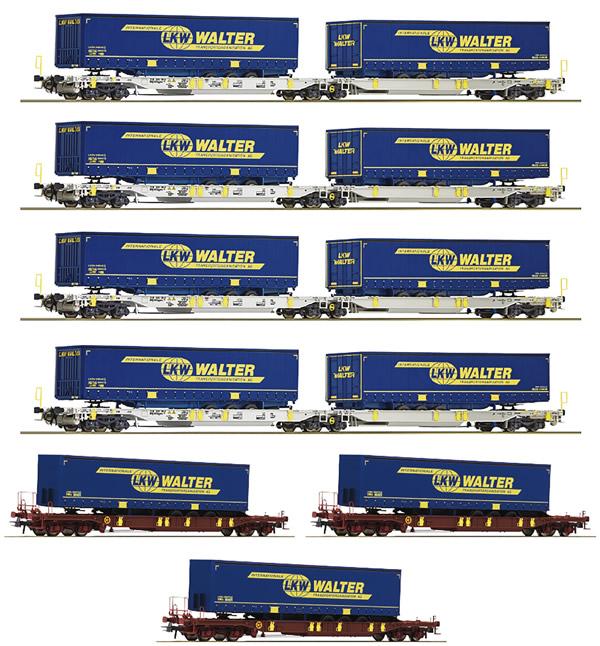 "Roco 75901 - 7-piece display ""LKW Walter"", AAE"