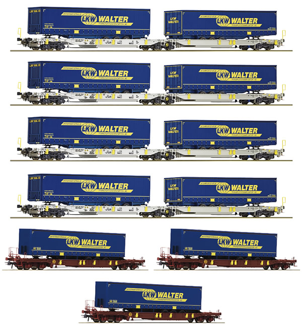 "Roco 75901 - 7-piece display ""LKW Walter"", AAE"