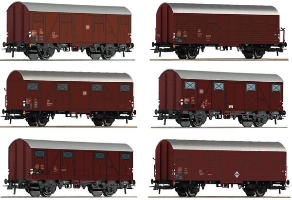 Roco 75952 - 12 pcs. Display: Covered freight cars