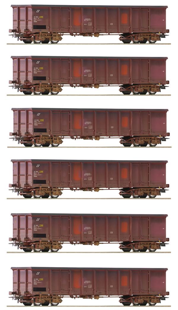 Roco 75973 - 6 piece Display Gondolas, FS
