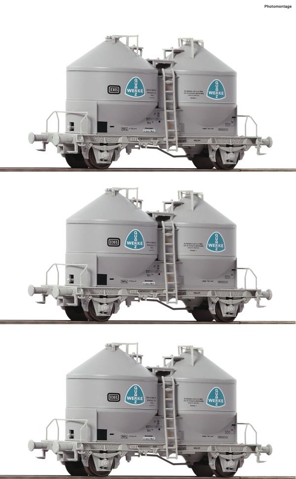 Roco 76010 - 3 piece set: Silo wagons