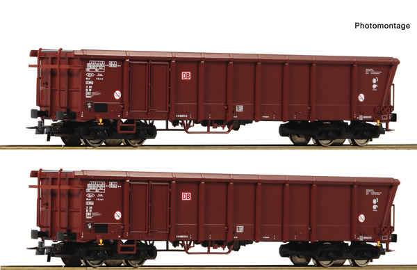 Roco 76014 - 2 piece set: Rolling roof wagons