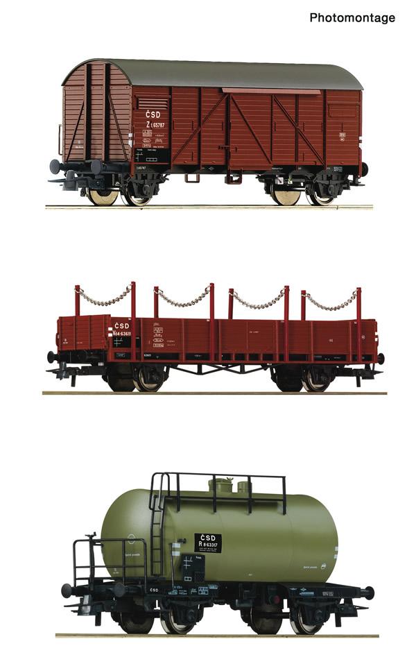 Roco 76018 - 3 piece set: Goods train