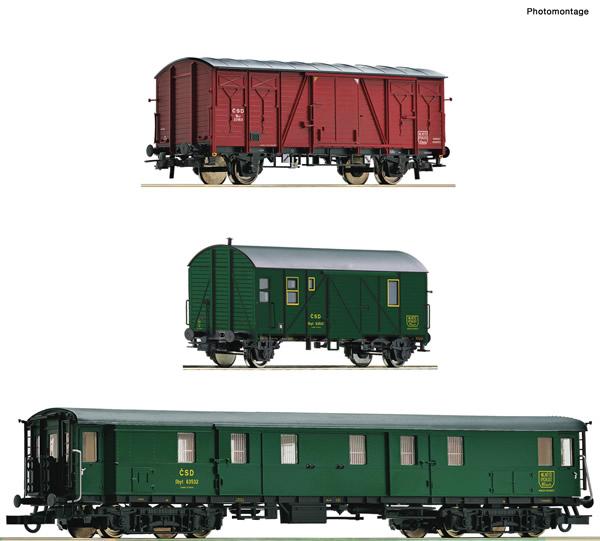 Roco 76019 - 3 piece set: Track maintenance train