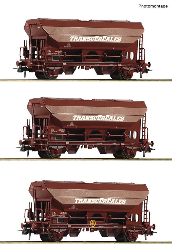 Roco 76033 - 3 piece set: Swing roof wagons