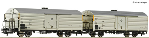 Roco 76034 - 2 piece set: Refrigerator wagons