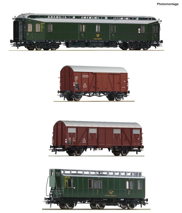 Roco 76036 - 4 piece set: Post train