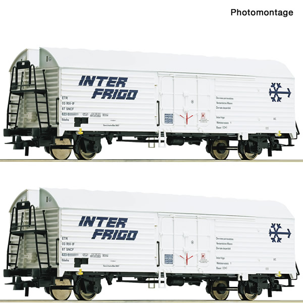 Roco 76040 - 2 piece set: Refrigerator wagons
