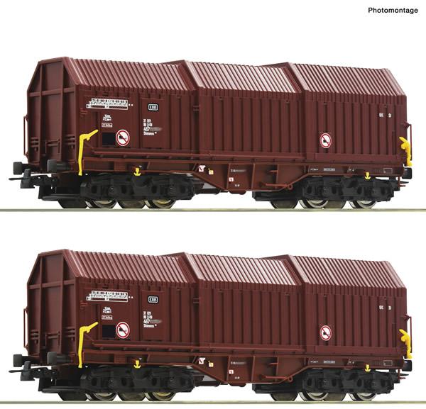 Roco 76041 - 2 piece set: Telescopic hood wagons