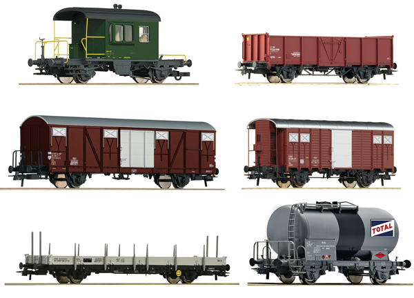 Roco 76051 - 6 piece Goods Wagon Set   Gotthardbahn
