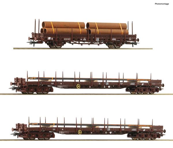 Roco 76053 - 3 piece set: Steel train