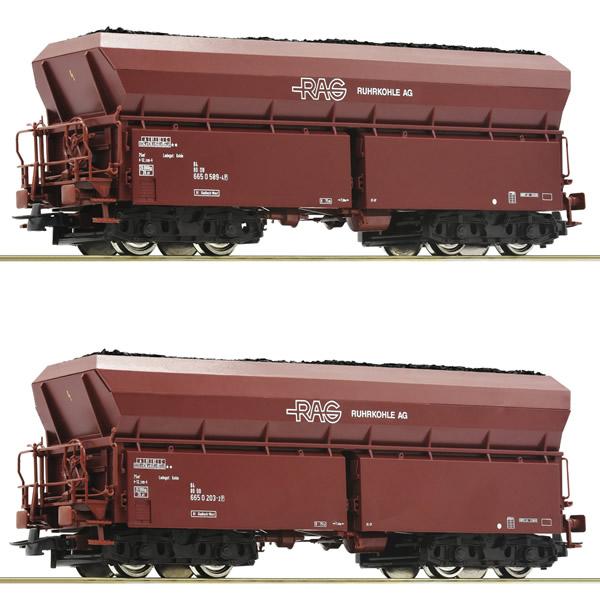 Roco 76058 - 2 piece set #1: Self unloading hopper wagons, RAG