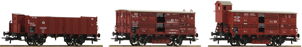 Roco 76060 - 3 piece set: Goods Wagons